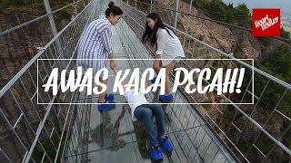 AWAS KACA PECAH! Moment Lucu Jembatan Kaca China