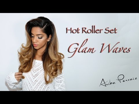 Glam Waves: Hot Roller Set - Hair Tutorial | ARIBA PERVAIZ