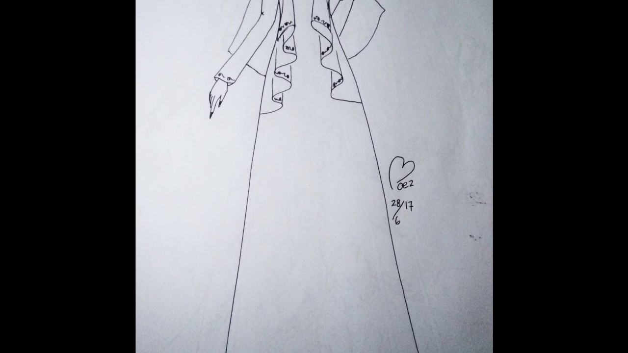 Drawing Moslem Fashion - menggambar baju muslim