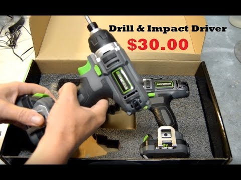 World's Cheapest Drill/Impact Driver Kit - Genesis 12v Lithium Ion - Tool Review