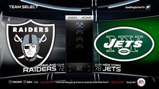 MADDEN NFL 15 PS4 Full Gameplay: Raiders vs Jets - Week 1 NFL Regular Season Matchup Simulation