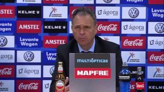 La Liga | Rueda de prensa de Caparrós tras el Levante - Mallorca | 08-12-2012 | J15