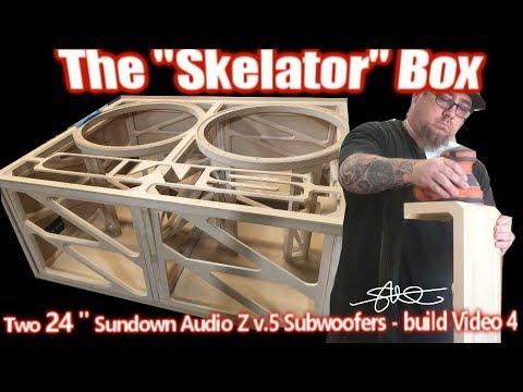 "The ""Skelator"" Box - Huge Ported Enclosure for Two Gigantic 24"" Sundown Subwoofers! -  Build video 4"