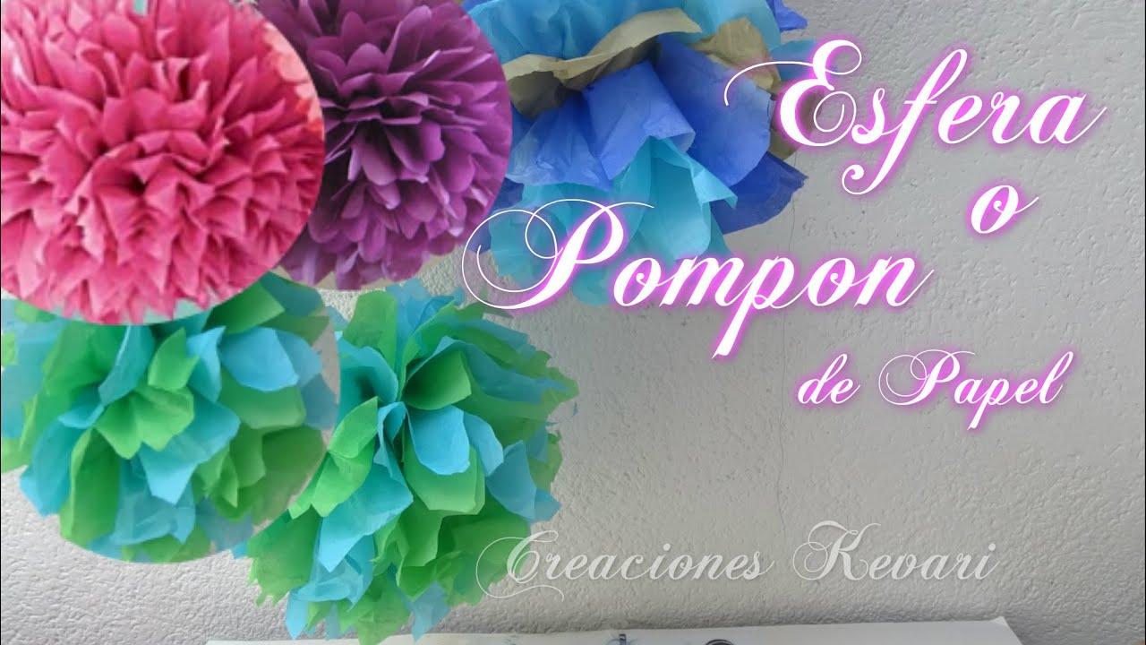 Pompon o esfera de papel facil guirnaldas para fiestas for Guirnaldas para fiestas infantiles
