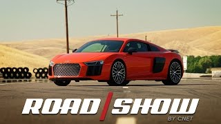 The wailing engine of the Audi R8 Plus is the best sound you