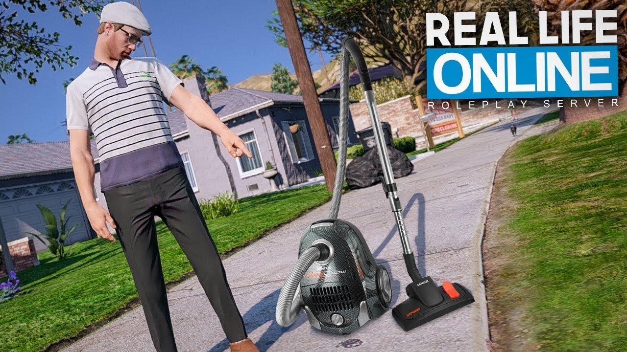 Ich verkaufe STAUBSAUGER = GEFÄNGNIS? - GTA 5 Real Life Online thumbnail