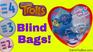 Trolls Blind Bags Series 4 3 2 Light Up Fashion Tags Chocolate Surprise Egg Dreamworks Toys Valentin