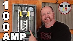 How to install a main breaker panel in a garage. -  Square D Homeline 100 Amp Main Breaker