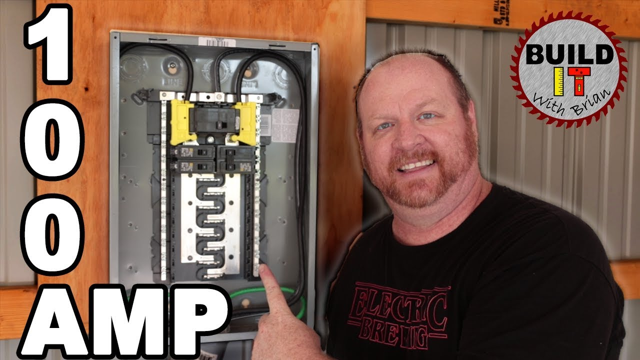 how to install a main breaker panel in a garage square d homeline 100 amp main breaker [ 1280 x 720 Pixel ]