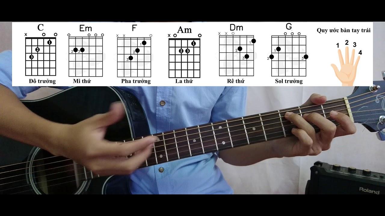 [Guitar Đệm Hát Cơ Bản – Bài 1] Cách đánh điệu Ballad nhịp 4/4