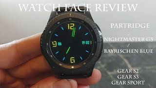 Watch Face Review : Nightmaster G3 Gear S2 Gear S3 Gear Sport