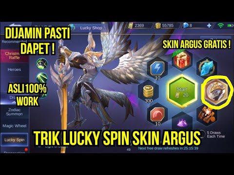 TRIK LUCKY SPIN SKIN ARGUS MOBILE LEGENDS !