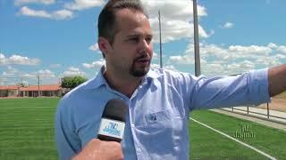 Secretário de Esportes Davi Alves, visita Areninha que será inaugurada no próximo sábado 23