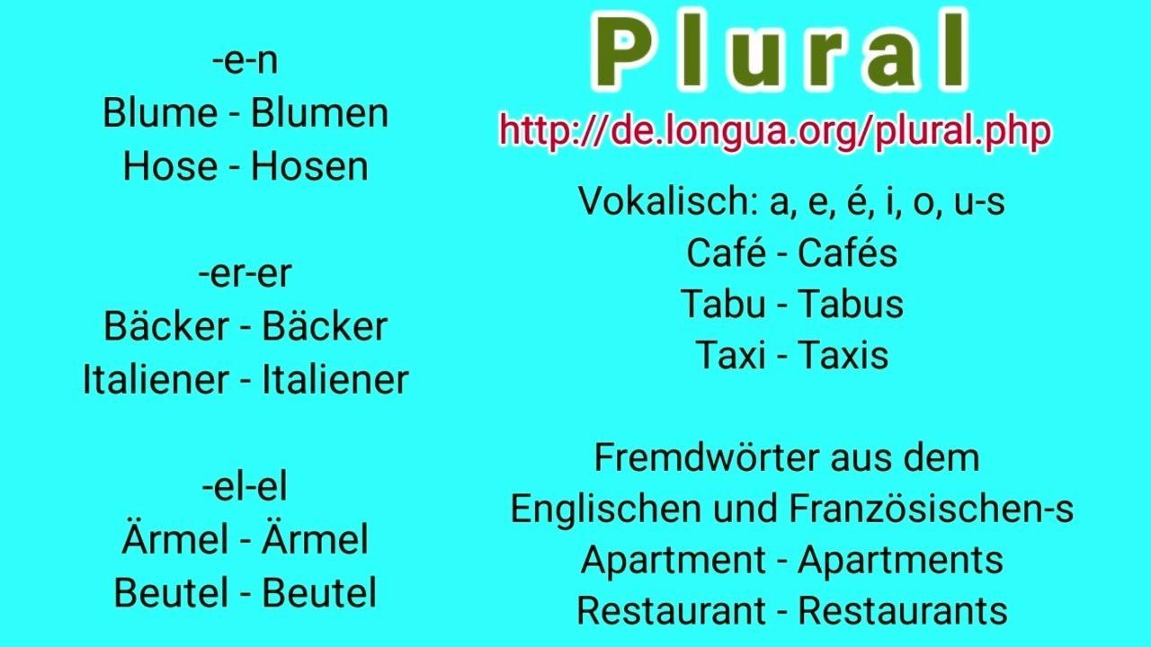 Deutsch, Plural, Artikel, der, die, das, mein, dein, sein, kein, keine,  alle, viele, einige, solche,