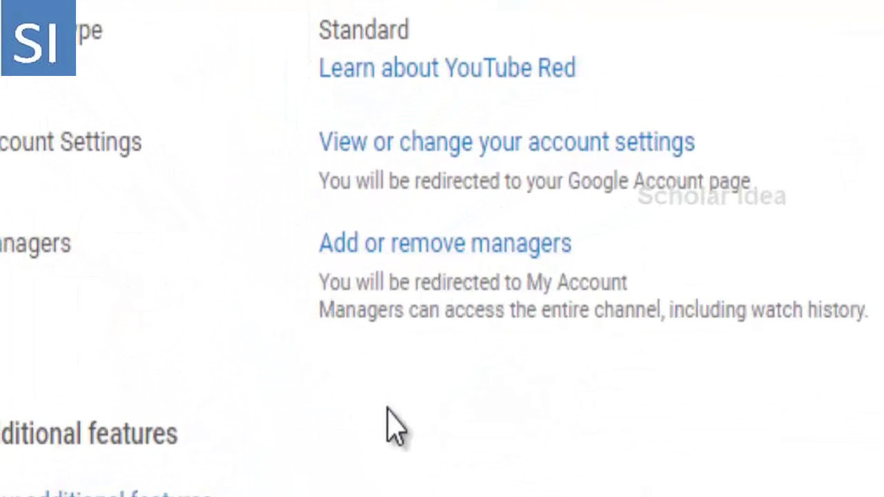 Change Owner or add manager to your YouTube channel !!!