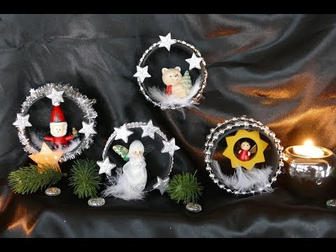 DIY Weihnachtsdeko – Weihnachtsdeko in Röhren – Wohndeko Weihnachten –Новогоднее украшение