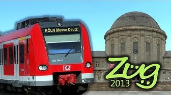 Zug2013: DOKU Köln Messe Deutz   mit ICE3, BR146.3, Dosto, Talent2, BR620 u.v.m.