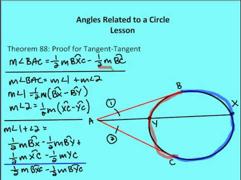 10.5 Angles Related To A Circle: Angles With Vertex Outside The Circle  (Part III) (Lesson)