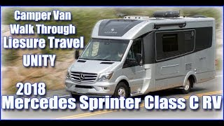 RV Camper Van Walk Through Mercedes Sprinter Class C leisure travel unity