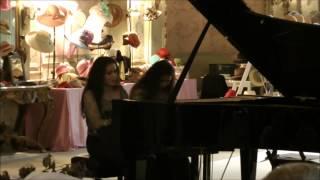 J.BRAHMS UNGARISCHER TANZ Nr. 4- f  MOLL by PIANO DUO SONJA AND SHANTI SUNGKONO IM SCHLOSS BÜCKEBURG