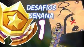 TESOURO / LHAMA / RAPOSA / CARANGUEIJO - Desafios do Passe de Batalha SEMANA #1