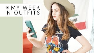 I let an app pick my outfits for a week (thrifted minimal closet)  | Alli Cherry