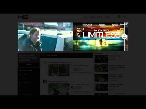 Limitless YouTube Masthead - Relativity Media