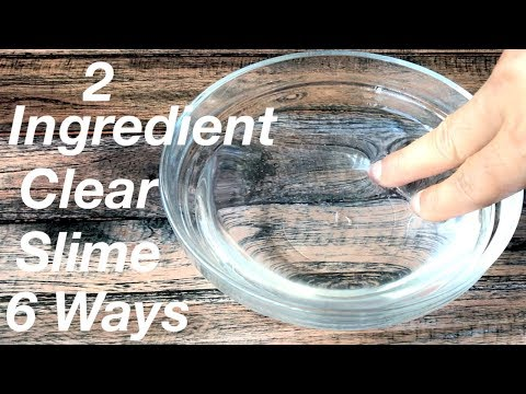 How To Make Crystal Clear Slime With 2 Ingredient!! Slime With Glue no borax!! 6 Ways To Make Slime