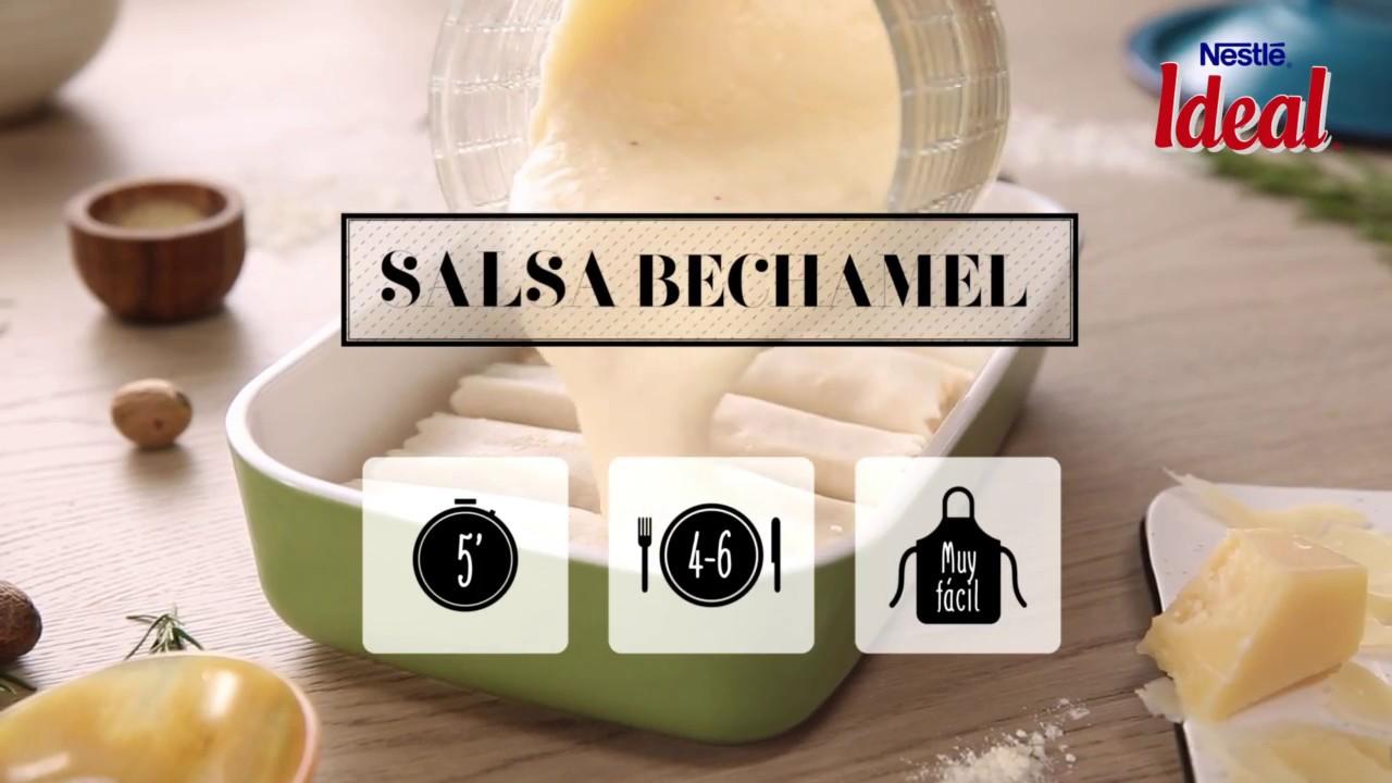 Salsa bechamel para canelones y lasaña - Recetas Leche IDEAL. Nestlé Cocina 21f4af4520f9