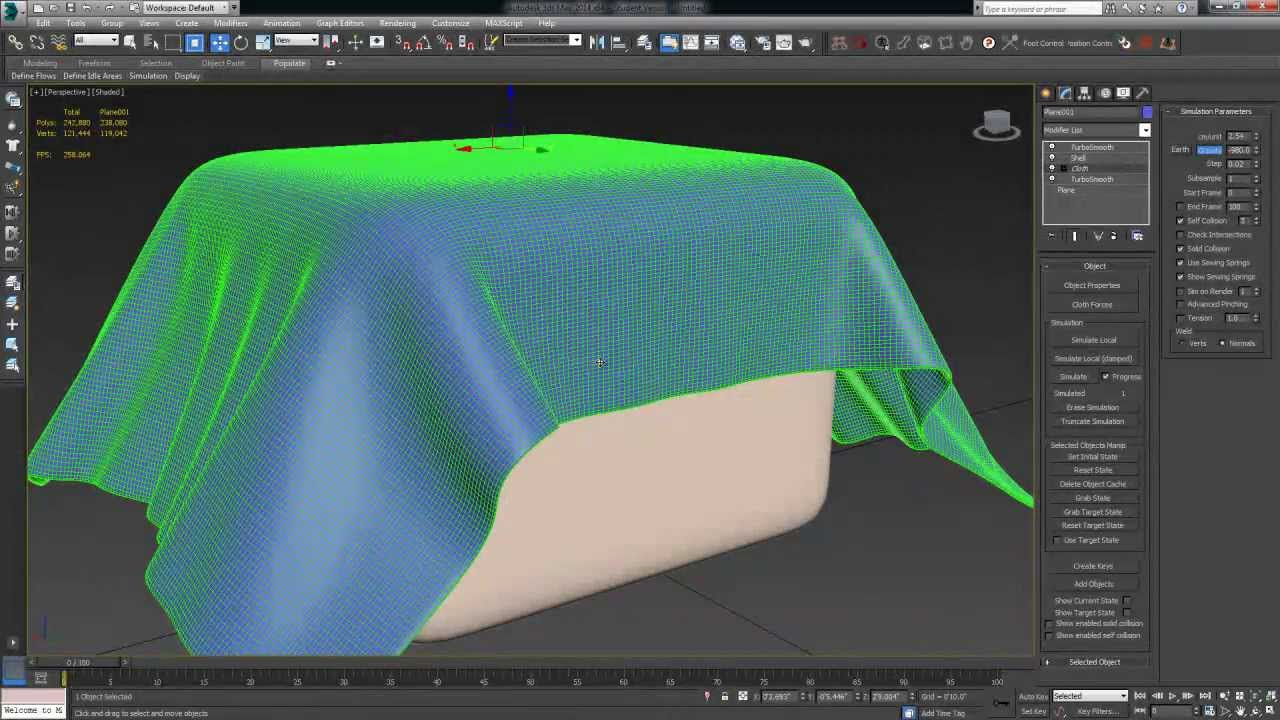 3ds max tutorial beginner cloth simulation youtube for 3d max lessons for beginners