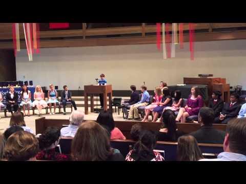 Gabe Cross Graduation Speech at Yorkshire Academy