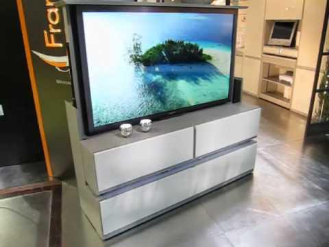 meuble tv ecran plat escamotable telecommande francois desile