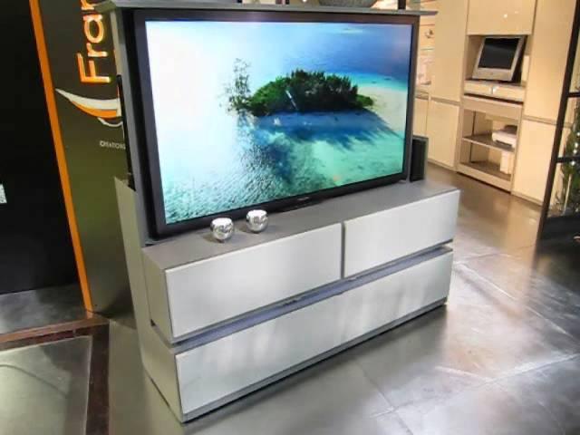 meuble tv ecran plat escamotable