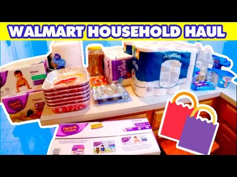 LARGE FAMILY WALMART HOUSEHOLD HAUL (in June before I had the baby :)