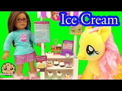 My Life As Ice Cream Snack Food Stand Playset Play With American Girl Doll - Cookie Swirl C Video