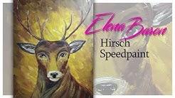 Wappen von Haus Baratheon aus Game of Thrones neu interpretiert | Hirsch | Speedpaint | Acrylmalerei