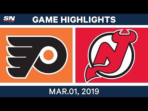NHL Highlights | Flyers vs. Devils - Mar 1, 2019