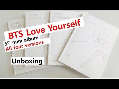 BTS Love yourself all versions unboxing 5th mini album 防弾少年団 アルバム レビュー