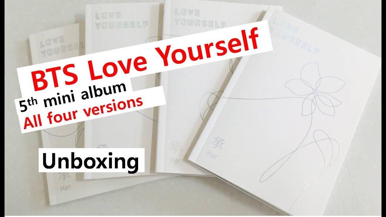 Bts love yourself all versions unboxing 5th mini album bts love yourself all versions unboxing 5th mini album solutioingenieria Gallery