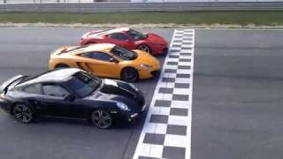 Drag race:   McLaren MP4-12C  -  Ferrari 458  -  Porsche 997 Turbo