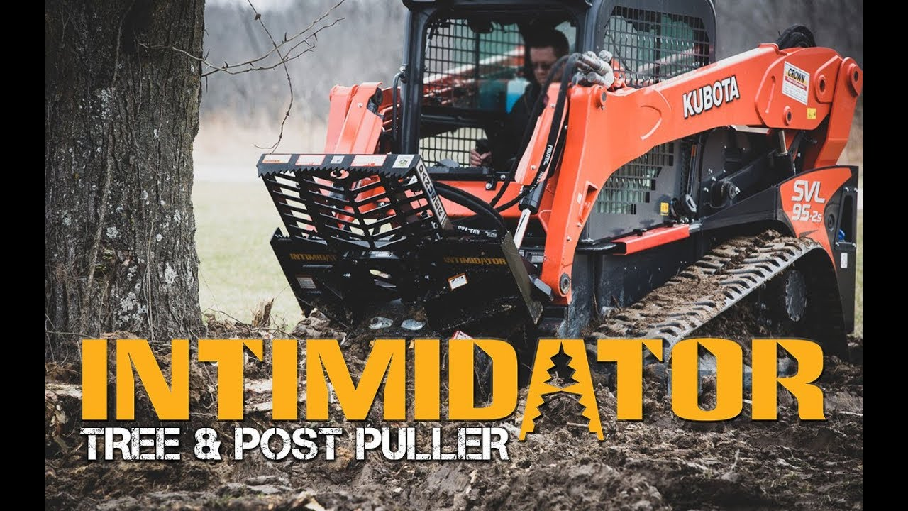 Tree Puller Attachment for Skid Steer Takes Down a Black Locust