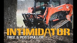 Video still for Tree Puller Attachment for Skid Steer Takes Down a Black Locust