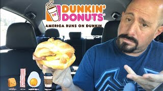 Dunkin' all you can meat breakfast sandwich Review : Food review