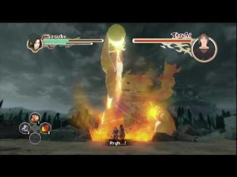 Naruto: Ultimate Ninja Storm 2 - Sasuke vs Itachi Final Boss Fight (Japanese) HD