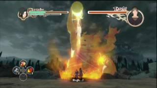 Naruto: Ultimate Ninja Storm 2 - Sasuke vs Itachi Final Boss Fight (Japanese) HD