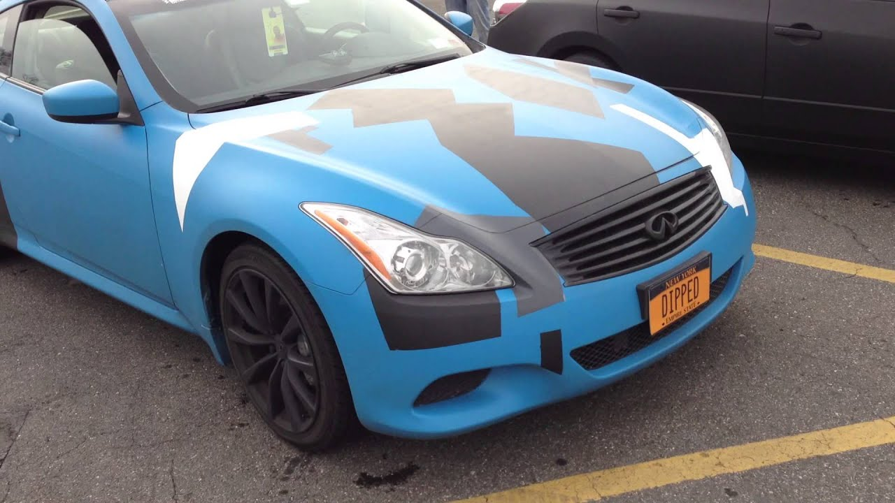 G37 Blue Custom Plasti Dip Camo Amp Matte Black Altima Youtube