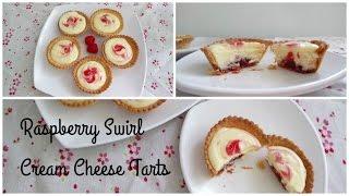 Raspberry Swirl Cream Cheese Tarts (Eggless)
