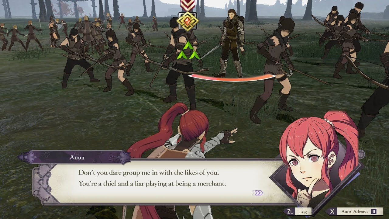 Image result for fire emblem three houses Anna battle