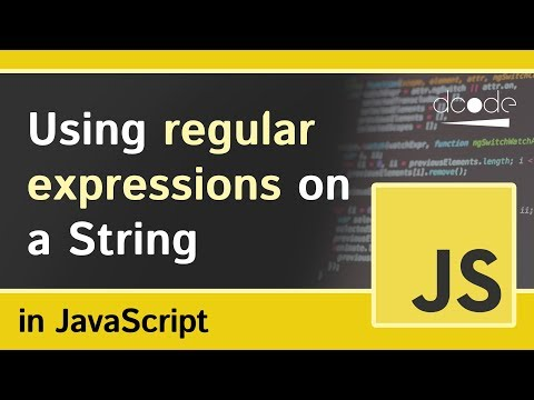 Regular Expressions on Strings in JavaScript (String.prototy