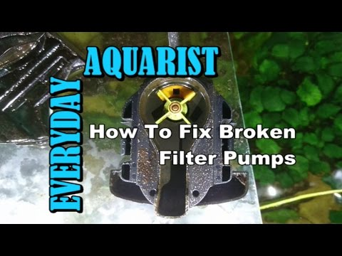 How To Fix Broken, Stopped, Rattling, Noisy Filter Pump in Aquariums and Ponds